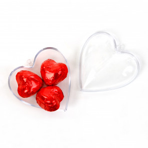 Plexi Heart With 3 Chocolates Hearts