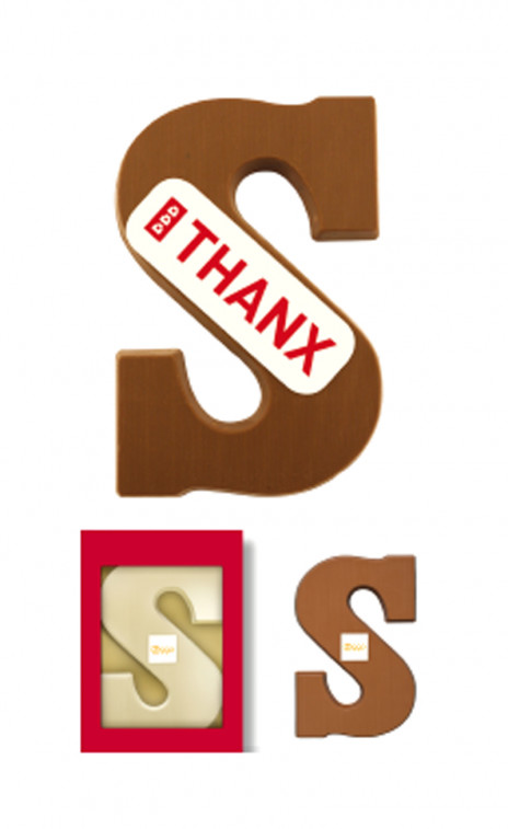 Chocolate Letter Own logo