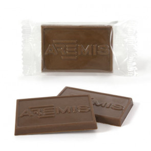 Stamped Chocolate in Flowpack
