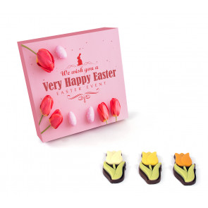 Giftbox Chocolate tulips - 145 g
