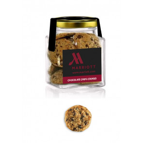 Cookie square glass jar