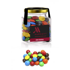 M&M Square glass jar