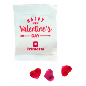 JELLY SACHET HEART SHAPED JELLIES